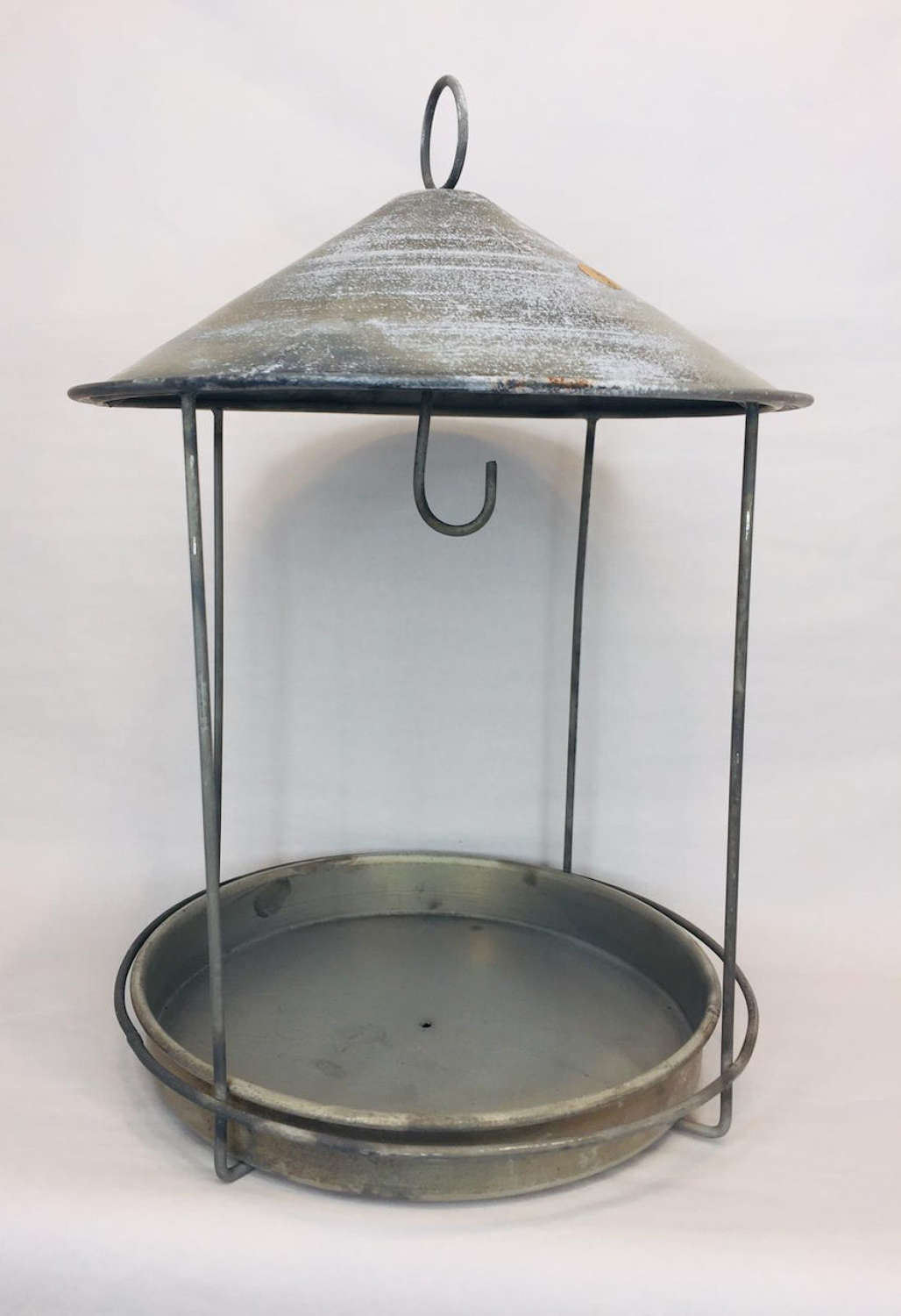 Rustic metal bird feeder