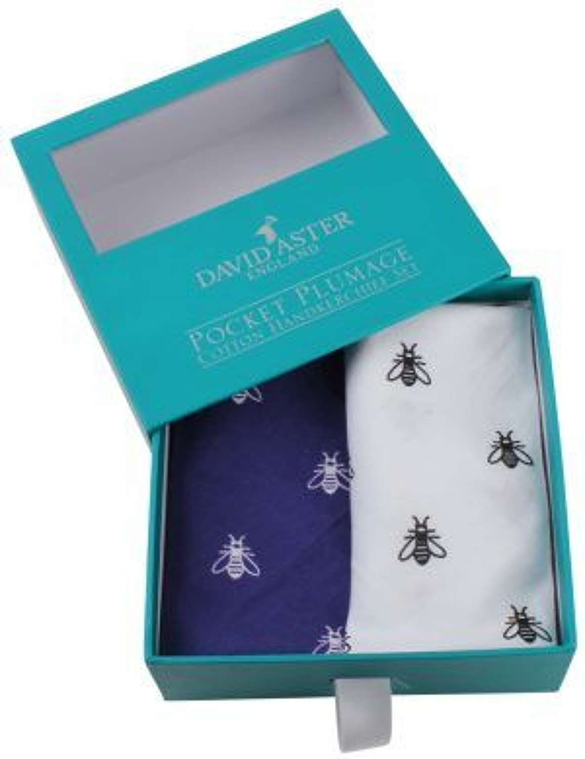 Blue & White Blue Print Cotton Handkerchief Set