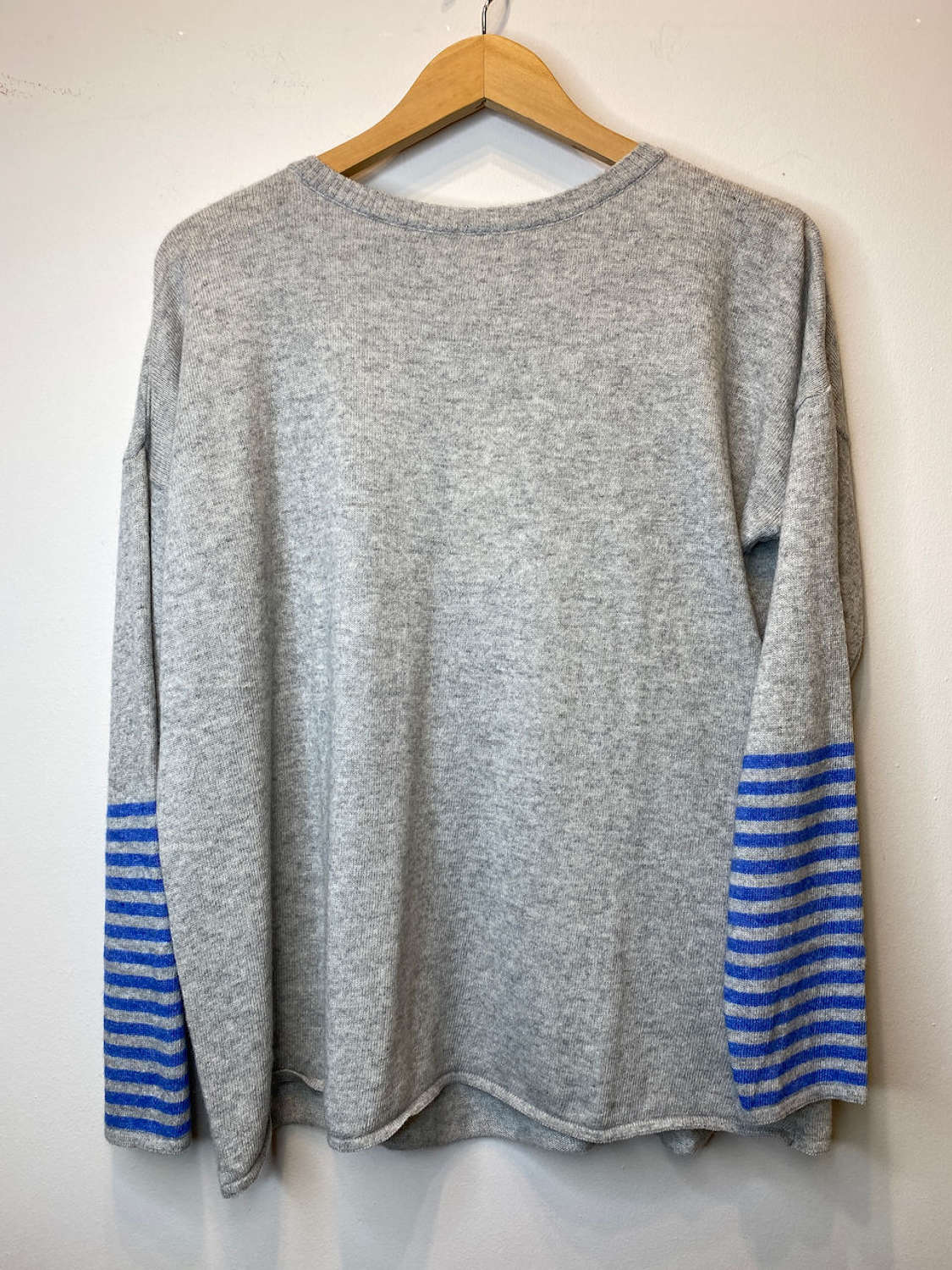 Cashmere Jumper - Stripes on Sleeve (available in 3 colour variations)