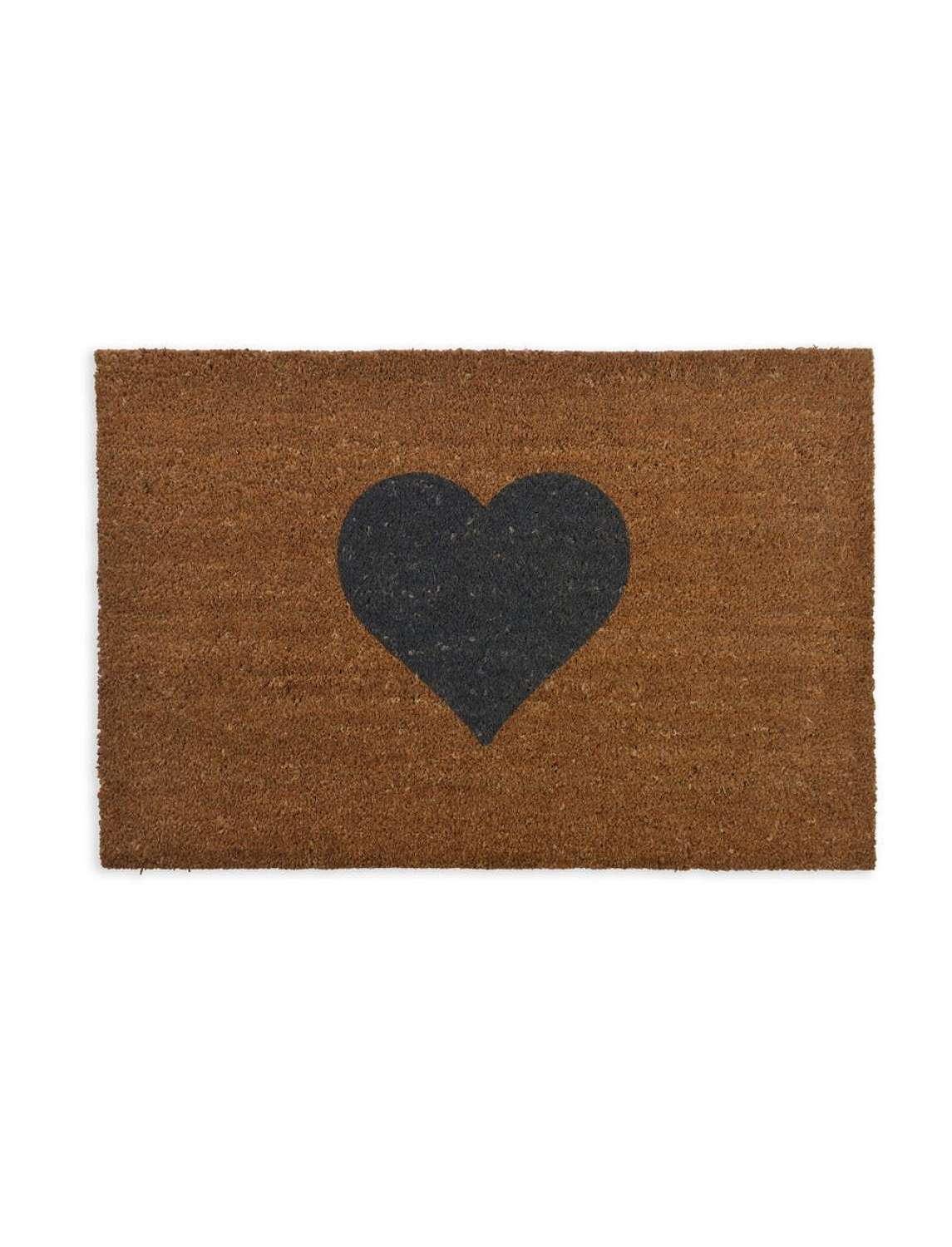 Heart coir doormat  - large and small